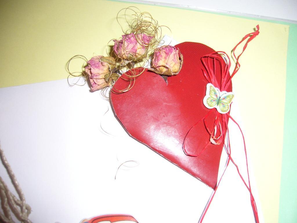 Украшаем конверт сердечком