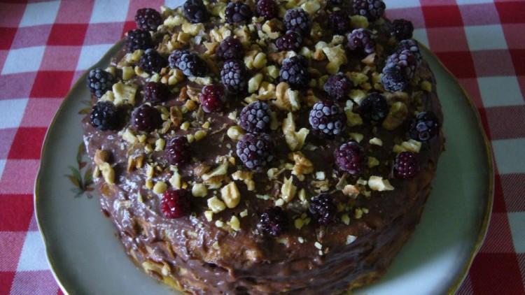 Сладкий шоколадный торт из блинов — Рецепт с фото