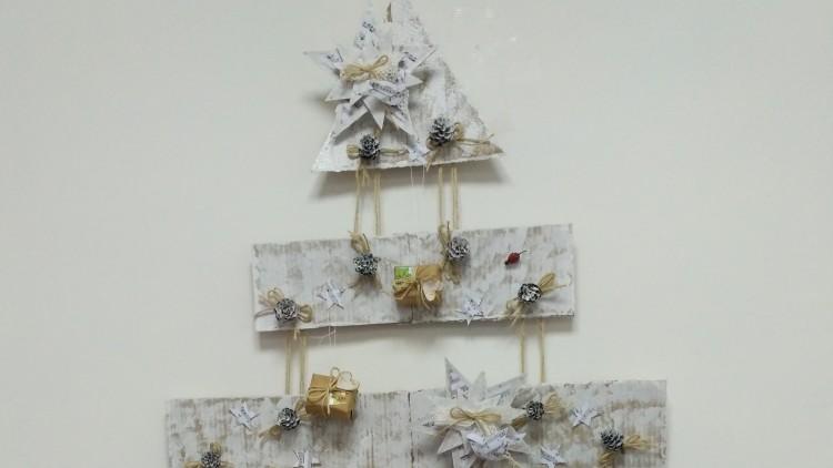 Ёлка из картона на стену своими руками