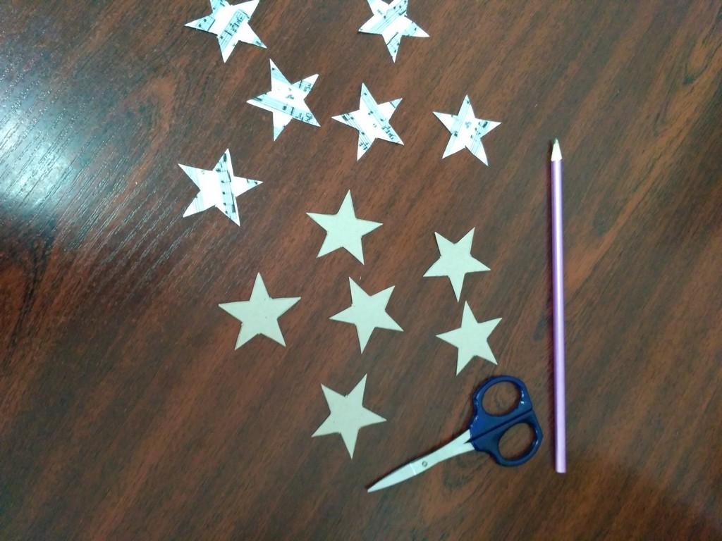 Звёзды из картона