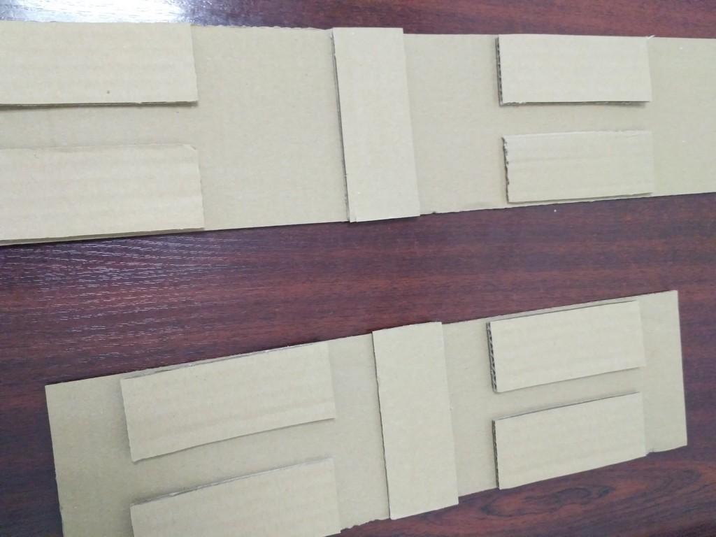 Ярусы для ёлки из гофрированного картона