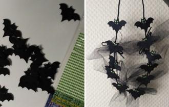 Бусы из летучих мышей для Хеллоуина