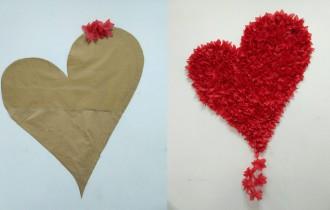 Фотозона своими руками — «Сердце» на стене
