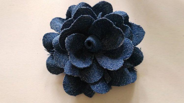 Джинсовый цветок: Вариант №2